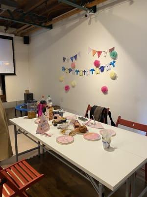 誕生日会 プロジェクター使用 - レンタルスタジオ ルペンディ Studio Rupendiの室内の写真