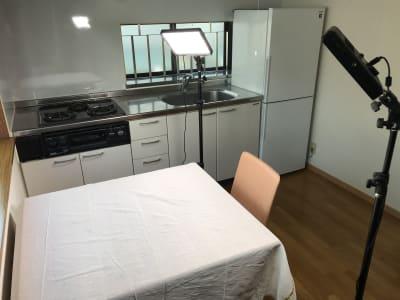 渋谷区/キッチン付き小型スペース LEDライト&カトラリー無料!の室内の写真