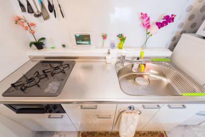 キッチン - パピヨンパラダイス東新宿  2LDKの室内の写真