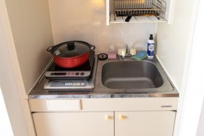 124_fika麻布十番-PL キッチンスペースの室内の写真