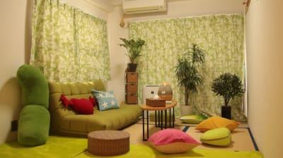 緑あふれる楽しい和室です - ご縁カフェ金山レンタルルーム 洋室と和室★2部屋でゆったり空間の室内の写真