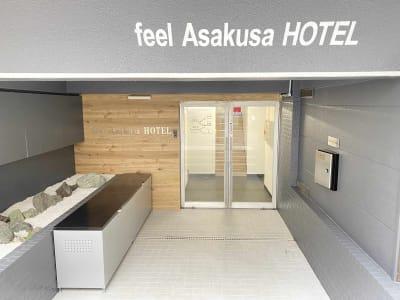 「feel Asakusa HOTEL」と記載されているビルの2階です。 - feel 浅草 feel 浅草 レンタルスペースの室内の写真