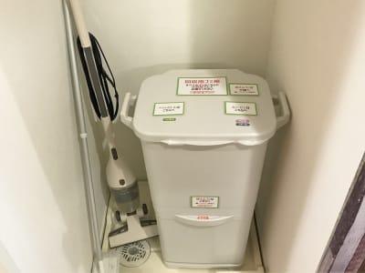 ゴミは置いて帰ることができます。こちらに分別まとめをお願いします。 - 貸会議室アクア大宮高鼻 お部屋貸し切り201号室の室内の写真