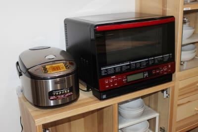 オーブンレンジ・炊飯器 - レンタルスペース  パズル浅草橋 レンタルキッチン スペースの設備の写真