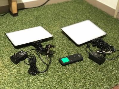 高光度LEDライトで撮影などの際、自由にご利用いただけます。 - ef(エフ)ガーデン神南Ⅰ 貸し会議室★エフガーデン神南の室内の写真