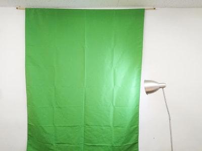 グリーンクロスの大きさは幅1.5m高さ2mです。スタンド照明も追加しました。 - アーキヒルズ西新宿7ベース 【新宿・西新宿】レンタルスペースの設備の写真