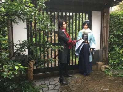 「紫栄庵」 【法人・商用プラン】レンタル和室の入口の写真