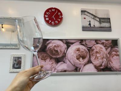 ワイングラスご用意してあります - H.R.S.O 栄 Heavenly栄の室内の写真