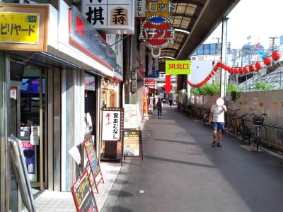 矢印の所がJR京橋駅北口です。 駅からの直線位置です。 - 大京クラブ【レンタルスペース】 【 軒先スペース 】の室内の写真
