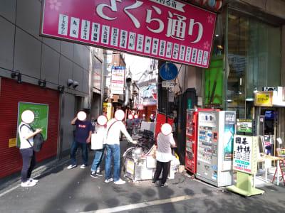 店のすぐ横は喫煙所等にしていますので 人溜まりになるスポットです 喫煙はこちらで - 大京クラブ【レンタルスペース】 【 軒先スペース 】の室内の写真