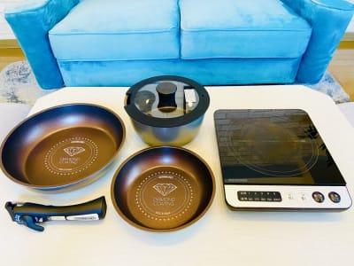 フライパンと卓上IHを無料でご利用頂けます。 - SMILE+ViVi梅田 レンタルスペース、パーティルームの設備の写真