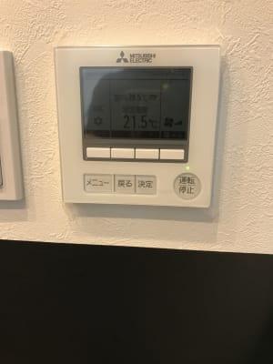 インバーターエアコンが2台、空気清浄機、加湿器完備してます。 - ライオンズプラザ市が尾 HAPPY SMILE スタジオの設備の写真