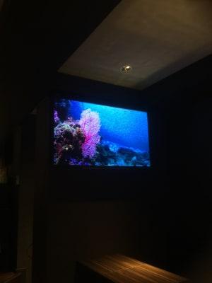 大型画面 -  季の香 ラウンジバーの設備の写真