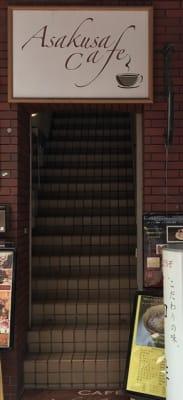 Asakusacafe の入口の写真