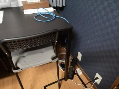 wifi、有線LANケーブル利用可能 - 宮町貸し会議室 貸し会議室・テレワークスペースの設備の写真