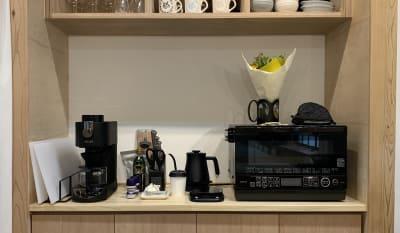設備も充実しています。  - キッチン&会議室 上町サンク 2階スペースの設備の写真