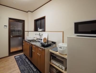 簡易キッチン付き - 今日都ゲストハウス レンタルスペースの設備の写真