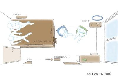 ※ベッドマットレスはございません。 - Feel Osaka Yu 【超高速WiFi】心斎橋仕事部屋の室内の写真