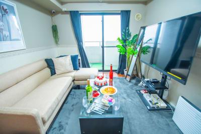 TS00107新宿 大型テレビ付きゴロゴロ空間の室内の写真
