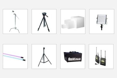 機材を多数ご用意しております ※オプションに無い機材に関しましてもお問せください - 【格安撮影】インザハウスCst.の設備の写真