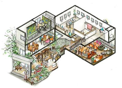 建物案内図。 - SOWELU-ソエル- レンタルスペース(南2F)の室内の写真