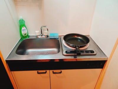 キッチン - 新大久保BASE  レンタルス パーティースペースの設備の写真