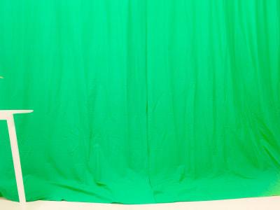 横幅3mのクロマキー撮影が可能です。 - スタジオ羅寂RAJAQの室内の写真