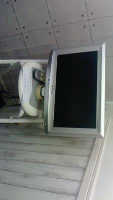 テレビ設置準備中(現在はまだ映りません) - 新宿44ビル内44サロングループ 44ネイルステーション1H500の室内の写真