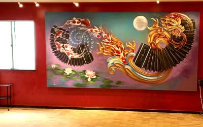 オレンジの壁の部分は、今はこのように変わっております。 - スタジオ【タンゴソル日本橋】 タンゴソル日本橋1スタジオの室内の写真