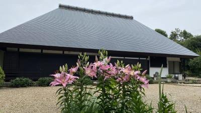 庭園 - 甘糟屋敷 庭園付き日本建築の室内の写真