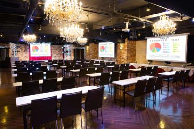 会議利用風景 - パセラリゾーツ横浜関内店 グレースバリ横浜関内店4Fの室内の写真
