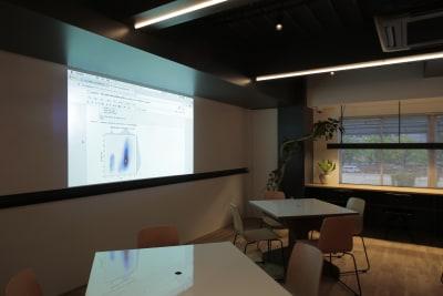 投影した様子。 - ScribbleOsakaLab 貸しオフィス・スタジオの設備の写真