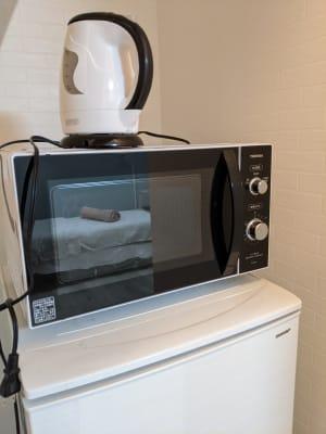 冷蔵庫 電子レンジ ケトル - シェアサロン『シェアフェリズ』 サロンスペースの設備の写真