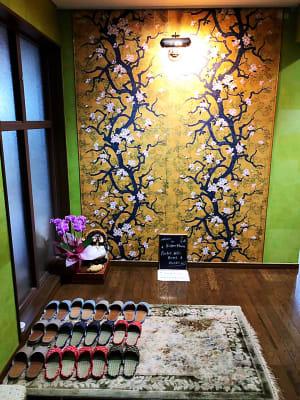 玄関 - 葵禅カフェ&バー 最上階の和風広々空間401の入口の写真
