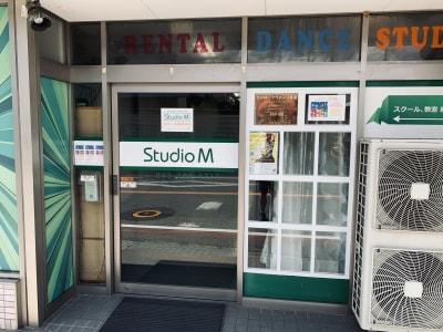 スタジオM  第2 京成稲毛駅前 ダンスレンタルスタジオAルームの入口の写真