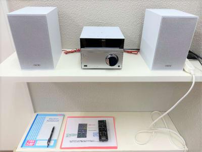 CDコンポ ・Bluetooth対応 スマホの音楽を聴けます。 - れんたるスタジオMINT レンタルスタジオ 1階の設備の写真