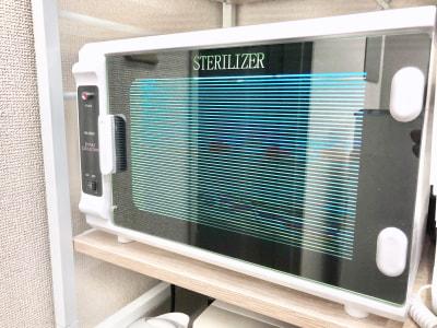 紫外線消毒器 - ネイルサロンLiana ネイルスペースの設備の写真