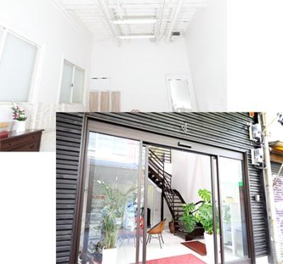 スタジオまで続くおしゃれな螺旋階段♪ - ココスタジオ 黒・グレー2種類の撮影ルームの室内の写真