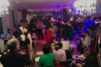 ダンスパーティーの様子。 - スタジオ【タンゴソル日本橋】 タンゴソル日本橋(大)13名以上の室内の写真