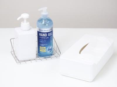 感染症防止対策の消毒アルコール - salon ole 立地抜群!完全個室の清潔サロン◎の設備の写真
