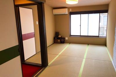 2階は9畳の和室 畳のい草の香りが懐かしい雰囲気 - 京小宿 古川みやび 京町家レンタルスペースの室内の写真