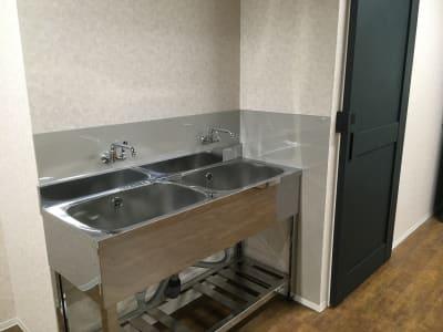 手洗い場(多目的スペース内:2口) - レンタルスペース&A 多目的スペース、レンタルキッチンの設備の写真