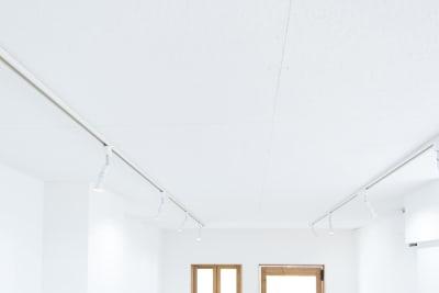 天井にはスペースを囲むようにダクトレールが設置されています。 - メゾンシンテンチ  お洒落なオルタナティブスペースの室内の写真