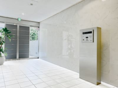白亜の大理石エントランスはお客様のテンション上がります! - レンタルサロンaMieu南青山 aMieu南青山/Vert(緑)の入口の写真