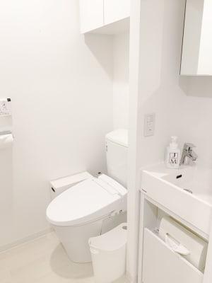 トイレももちろんセパレートで、きれいです。 - レンタルサロンaMieu南青山 aMieu南青山/Vert(緑)の設備の写真