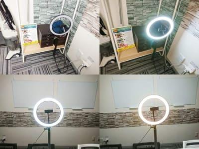 撮影用の照明器具を設置しました。ご自由にご利用ください。 - アーキヒルズ白金ベース 【白金・広尾】テレワーク応援!の設備の写真
