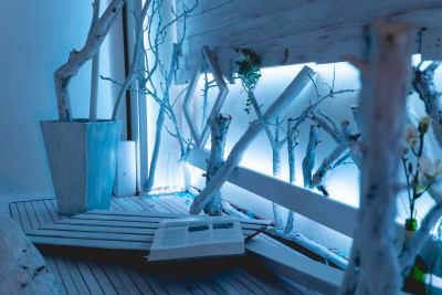 LEDライトは色を自由に変更可能 - レンタルスタジオ「みぃすた」 レンタル撮影スタジオの室内の写真