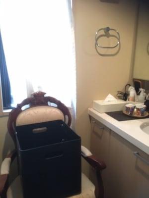 洗面所(お着替えスペース) - ラグジュアリーレンタルサロン銀座の室内の写真