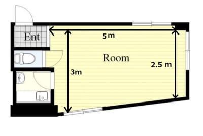 フロア図面 - SKYレンタルダンススタジオの室内の写真