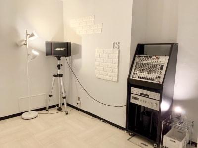 音響機器 ※iPhone、iPad、CD利用可能 - ダンススタジオ is レンタルスタジオの設備の写真